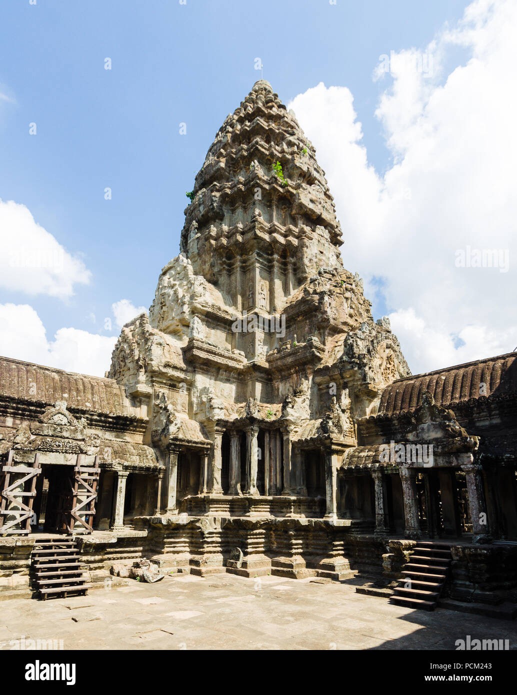 Angkor Wat's central de culte, au Cambodge. Photo Stock