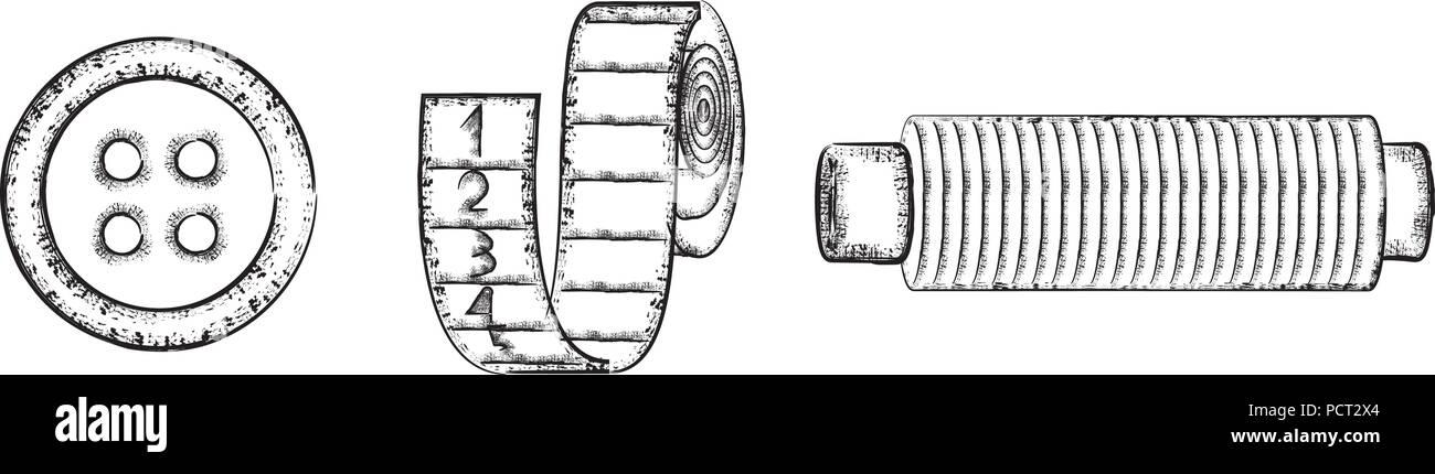 Symboles de couture set 2 Illustration de Vecteur