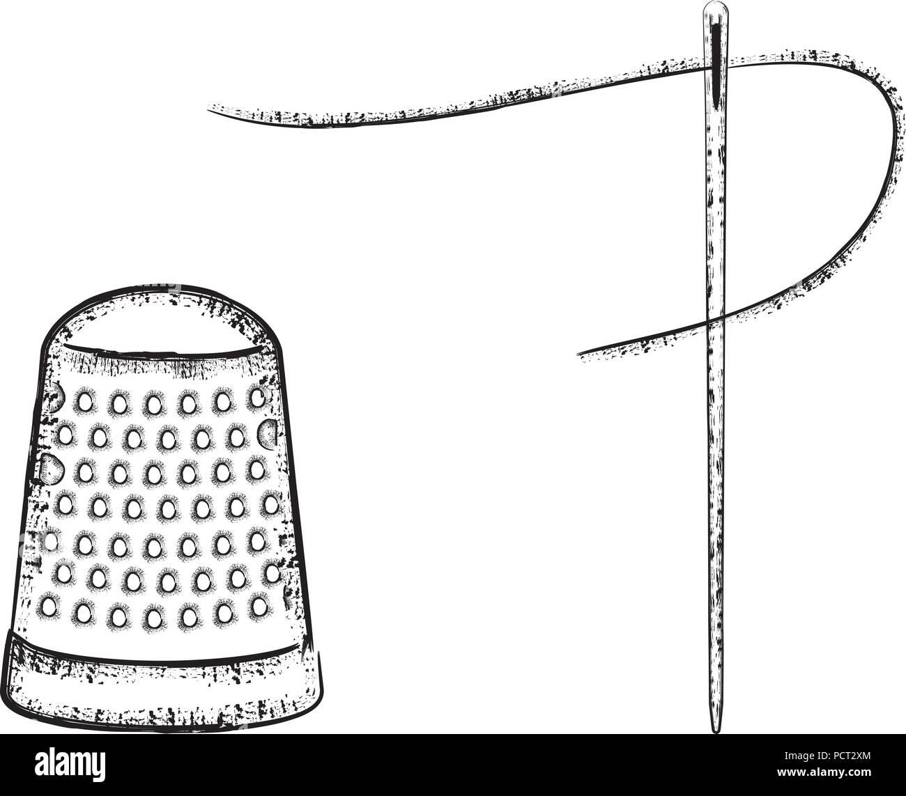 Série des symboles de couture 4 Illustration de Vecteur