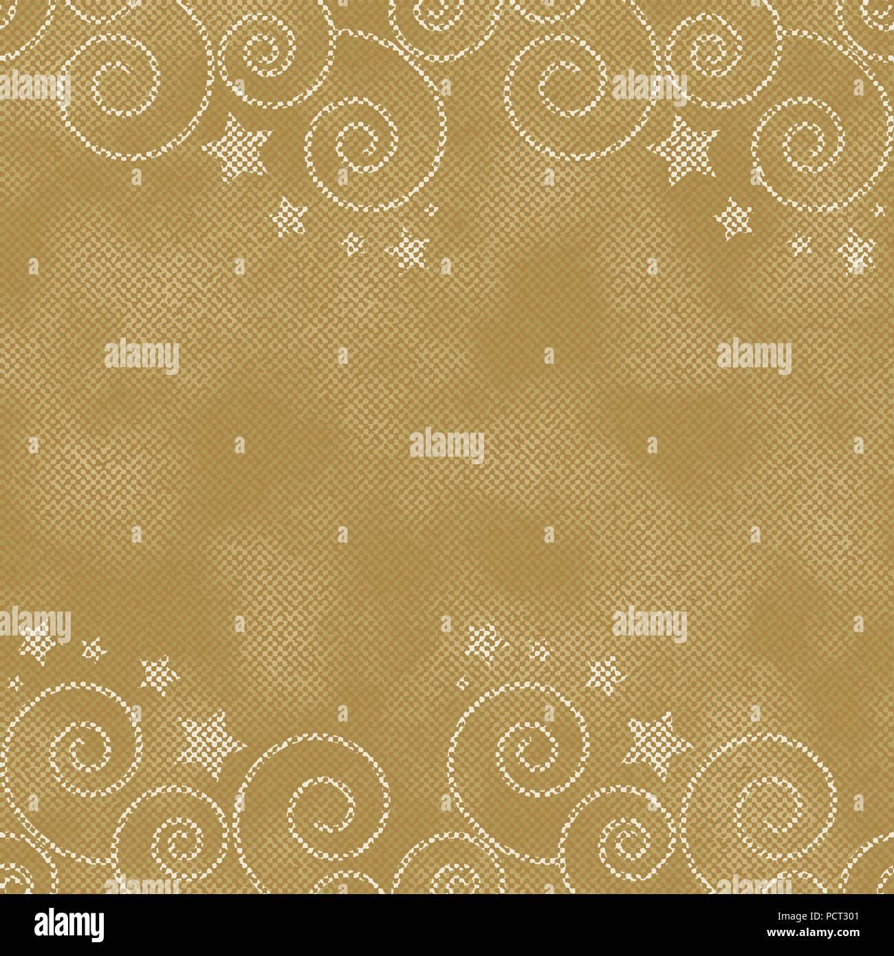 Fond doré texturé avec des étoiles Illustration de Vecteur