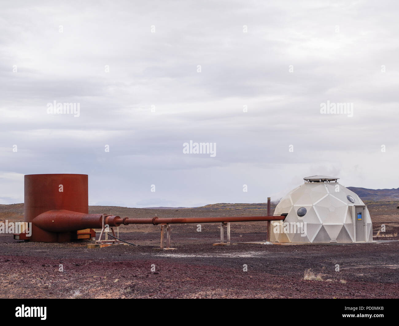 Leirbotn dans géothermique de Krafla, Nord de l'Islande Photo Stock