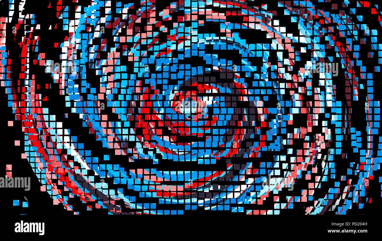 Animation De Cercle De Couleur Des Pixels Des Lignes Style