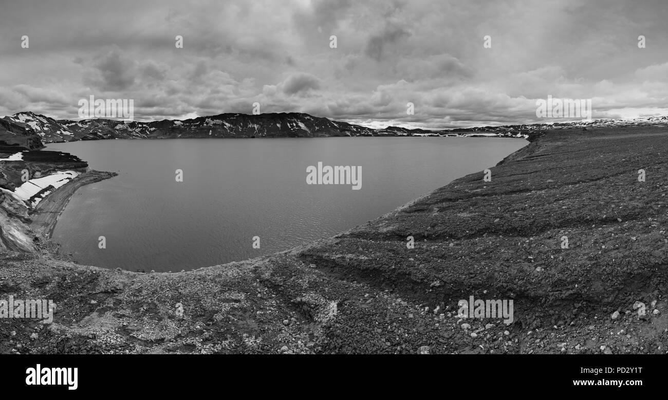 Lac Bleu Oskjuvatn Banque D'Images
