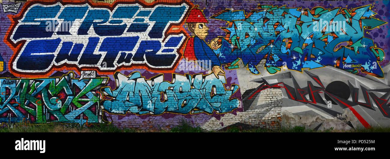 Une Image Detaillee De La Zone De Dessin Street Art Conceptuel Un