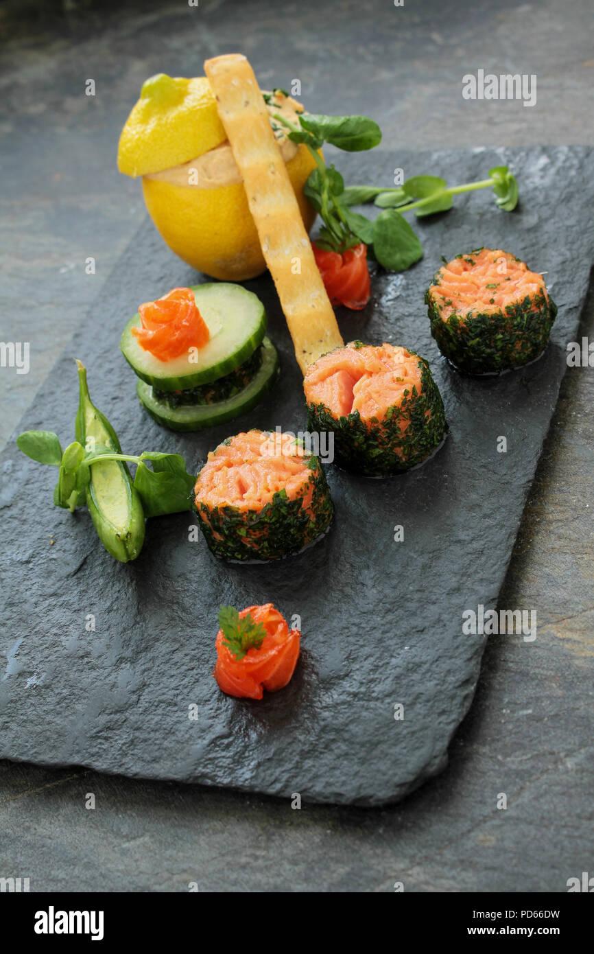 La truite saumon starter Photo Stock