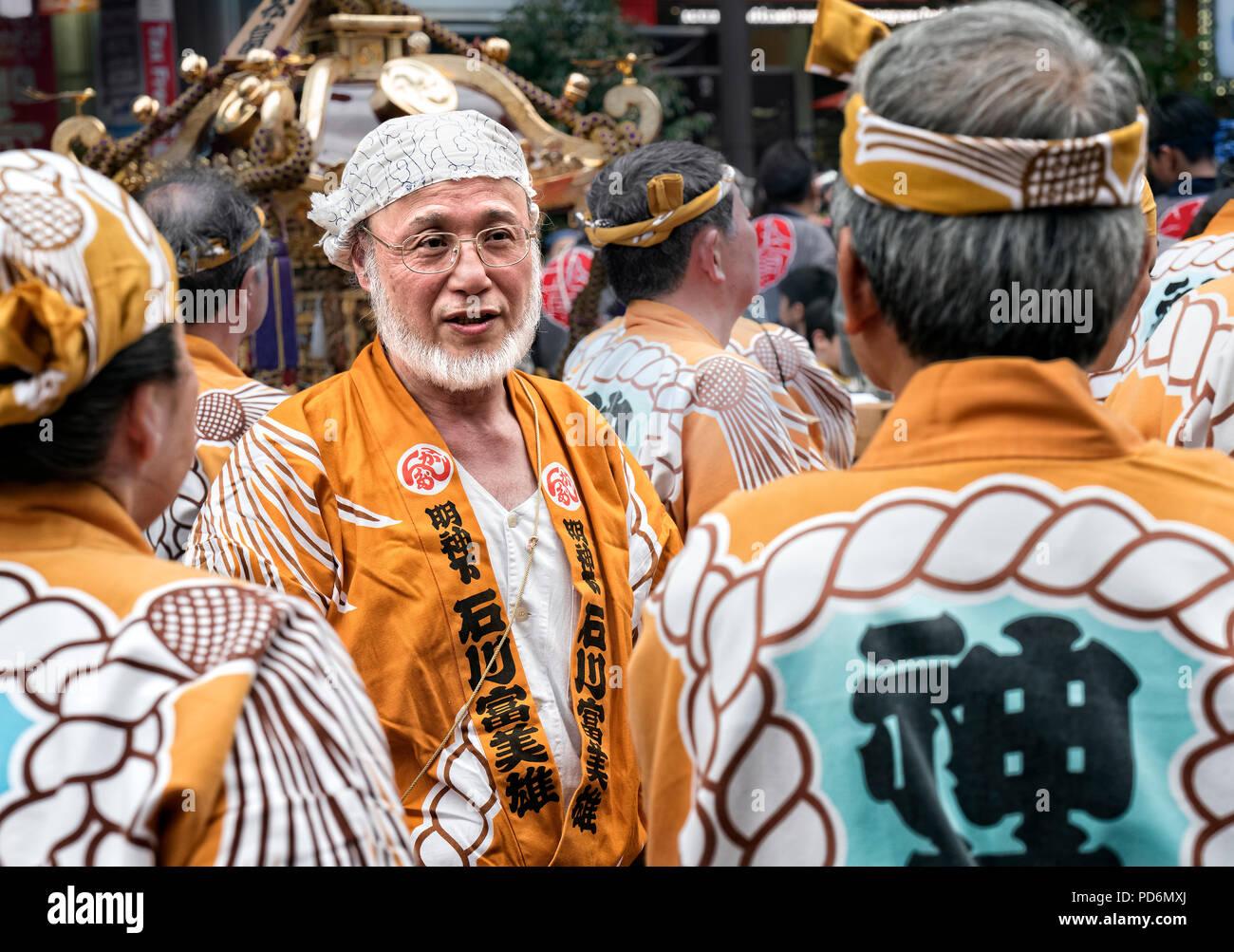 L'île de Honshu, Japon, Tokyo, Kanto, festival, le Kanda matsuri. Photo Stock