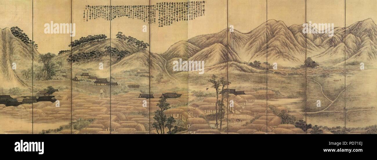 Un Jung sik-yeong gwang-paysage. Photo Stock