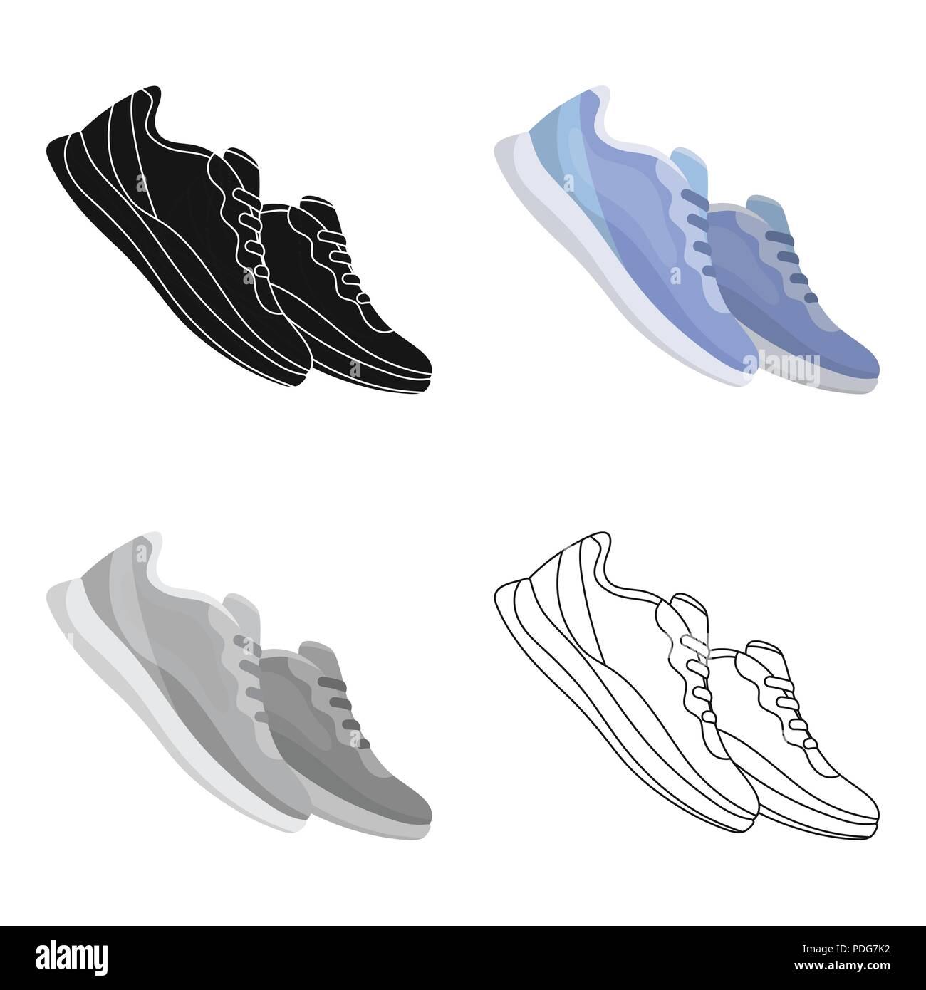 Espadrilles bleu pour le sport. Sport chaussures de sport et