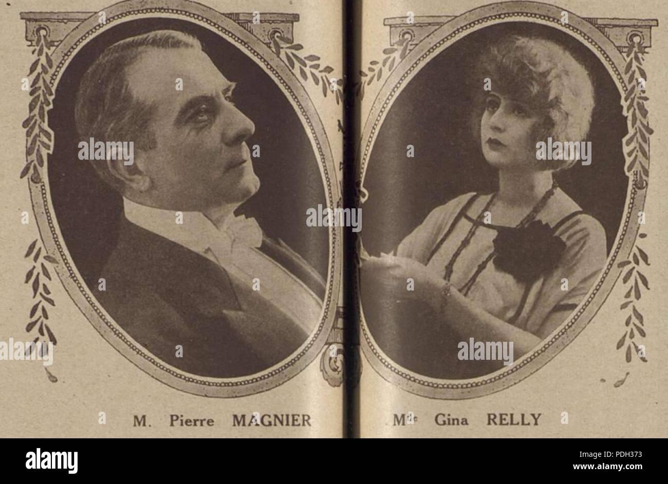 260 Pierre Magnier et Gina Relly dans la dette (1920) Photo Stock