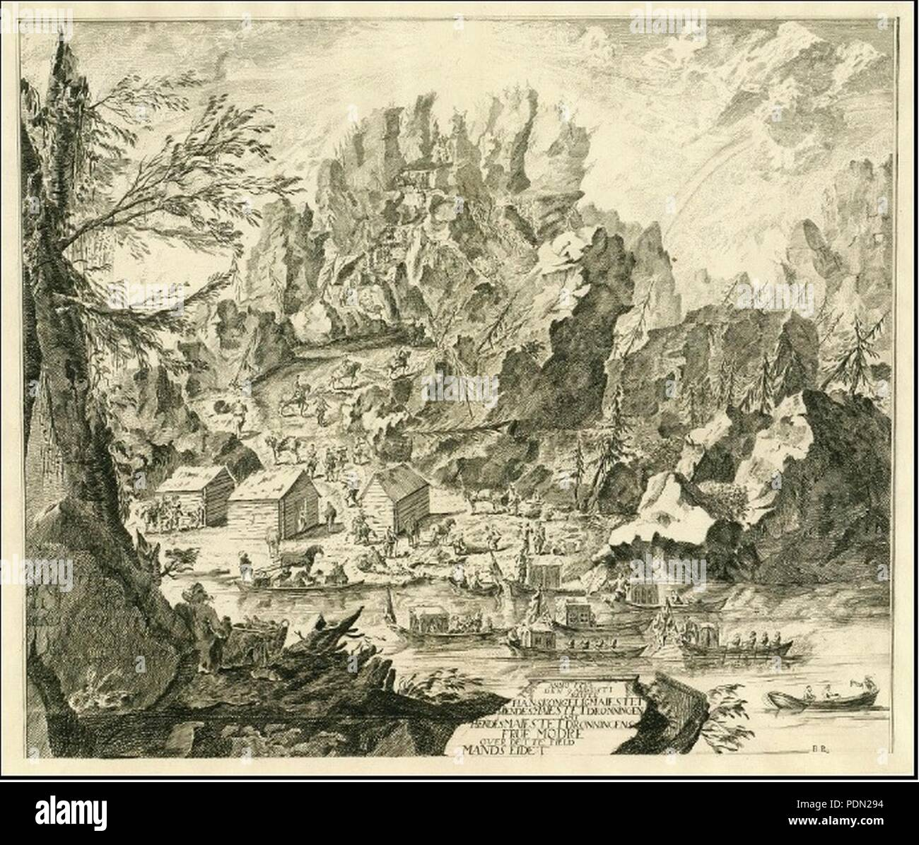 Anno 1733 den 9 Augusti reiste sur ce domaine Commandes Eidet. Photo Stock