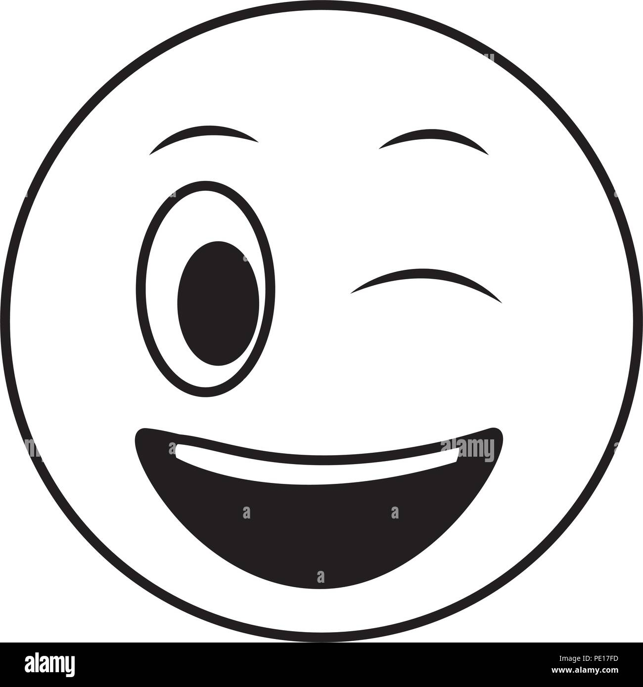 Smiley emoticon facial expression wink photos smiley - Smiley noir et blanc ...