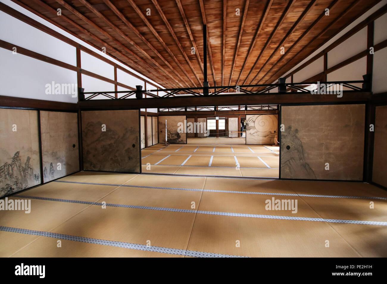 Les chambres du Japonais modeste Ryōan-ji temple Zen à Kyoto ...