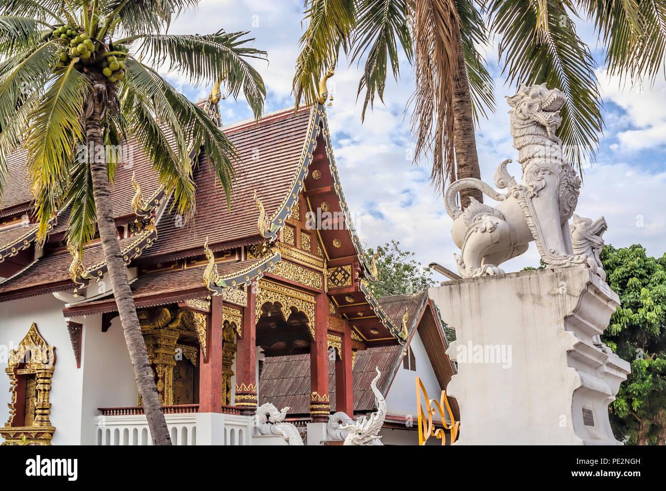 Wat Chang Taem, Chiang Mai, Thaïlande Photo Stock
