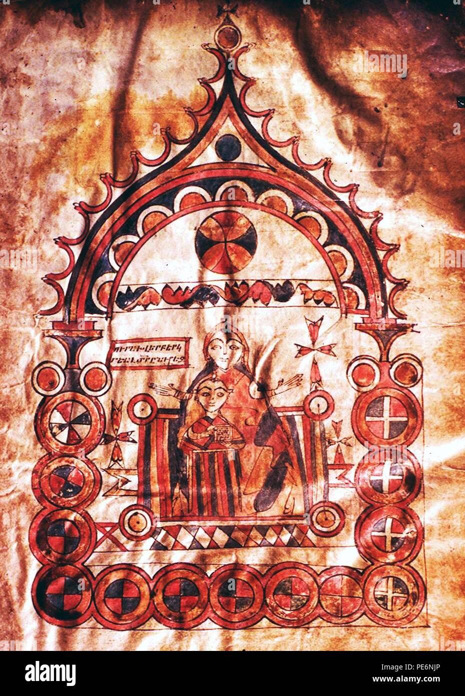 Évangile arménien de 966 traducteurs. Photo Stock