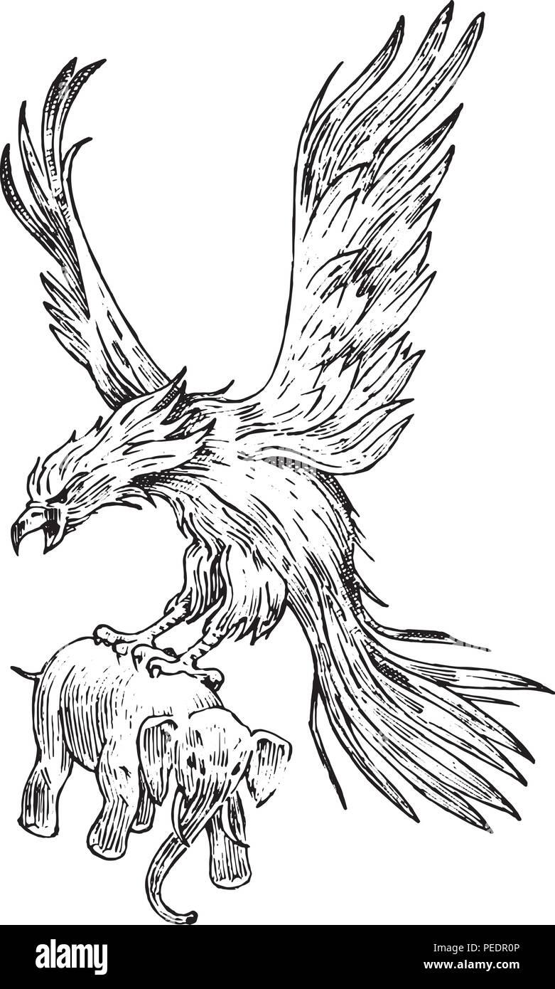 phoenix mythique oiseau de feu ou un roc la mythologie. Black Bedroom Furniture Sets. Home Design Ideas