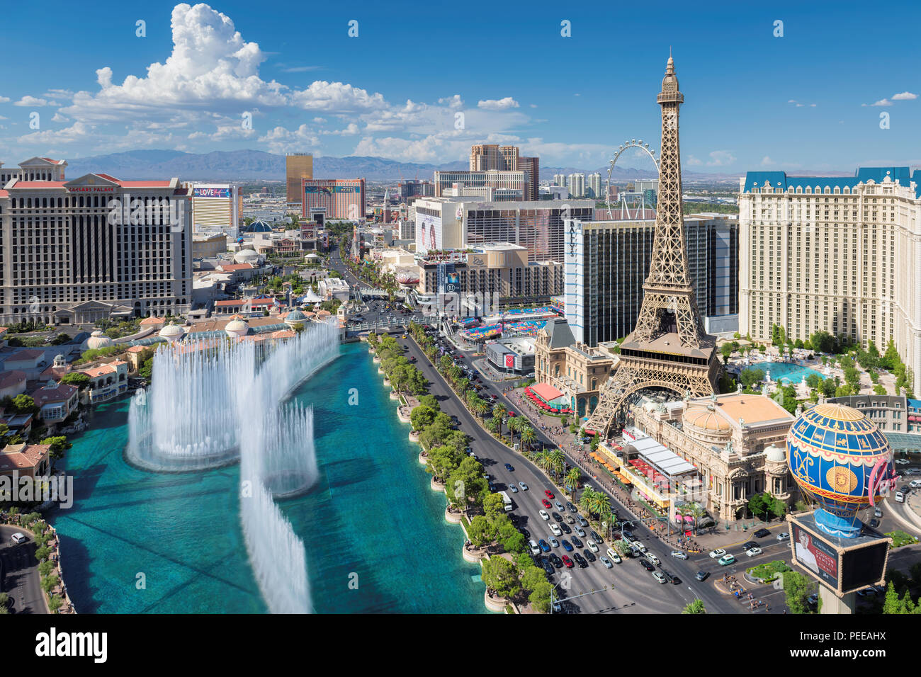 Strip de Las Vegas skyline Photo Stock