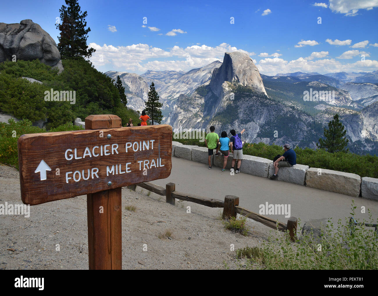 États-unis, Californie, Half Dome, Yosemite National Park Banque D'Images