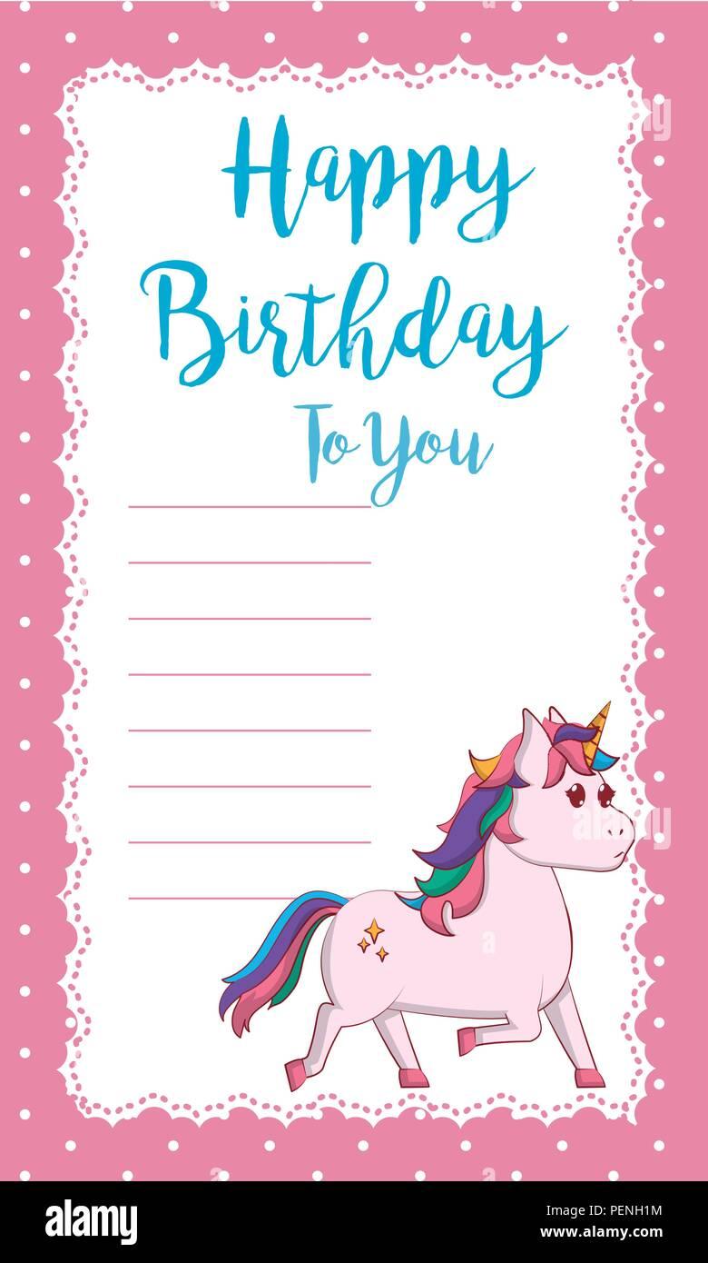 Happy birthday card Photo Stock