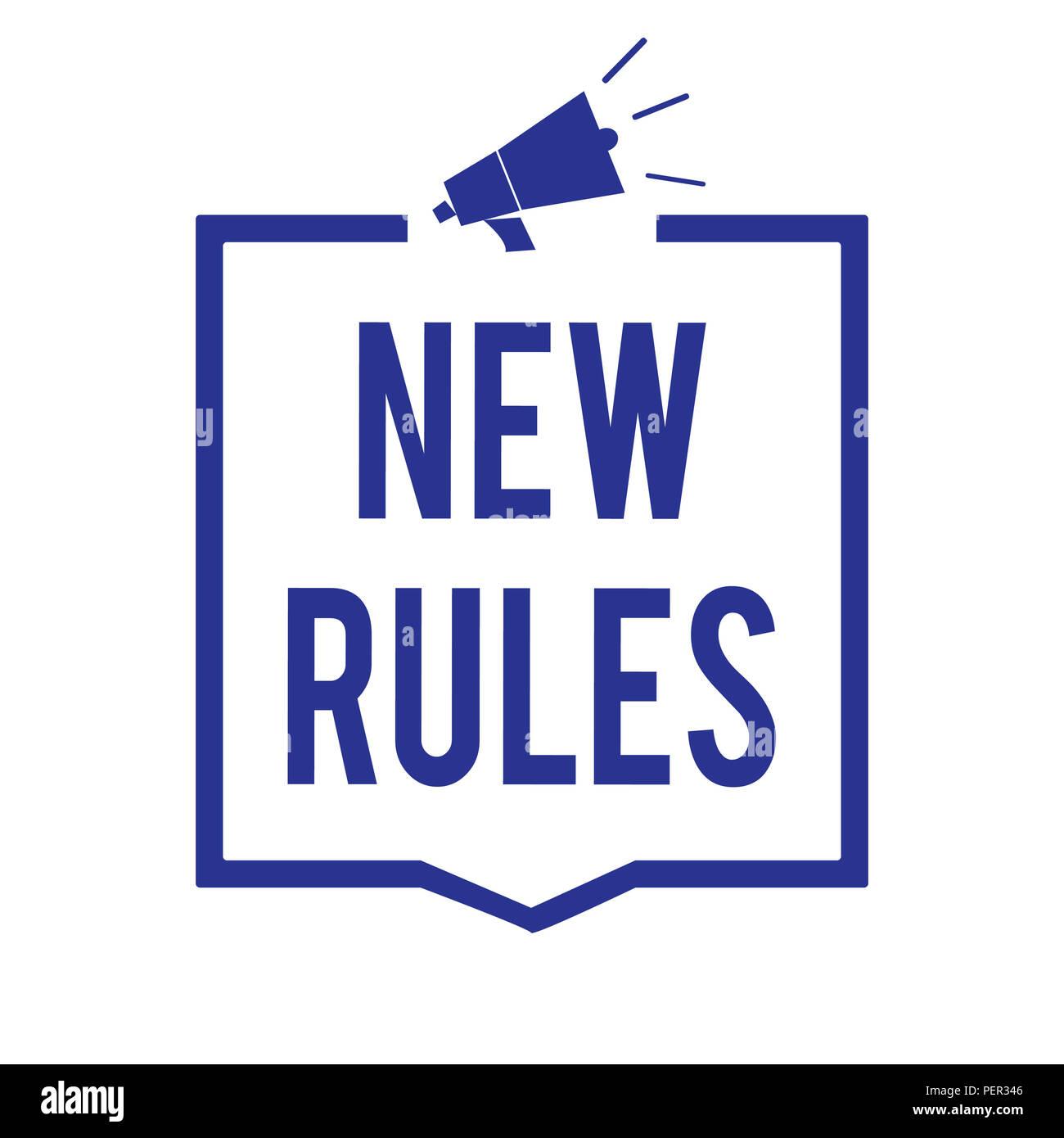 Image Pour Mettre Dans Un Cadre texte de l'écriture de nouvelles règles. sens concept un