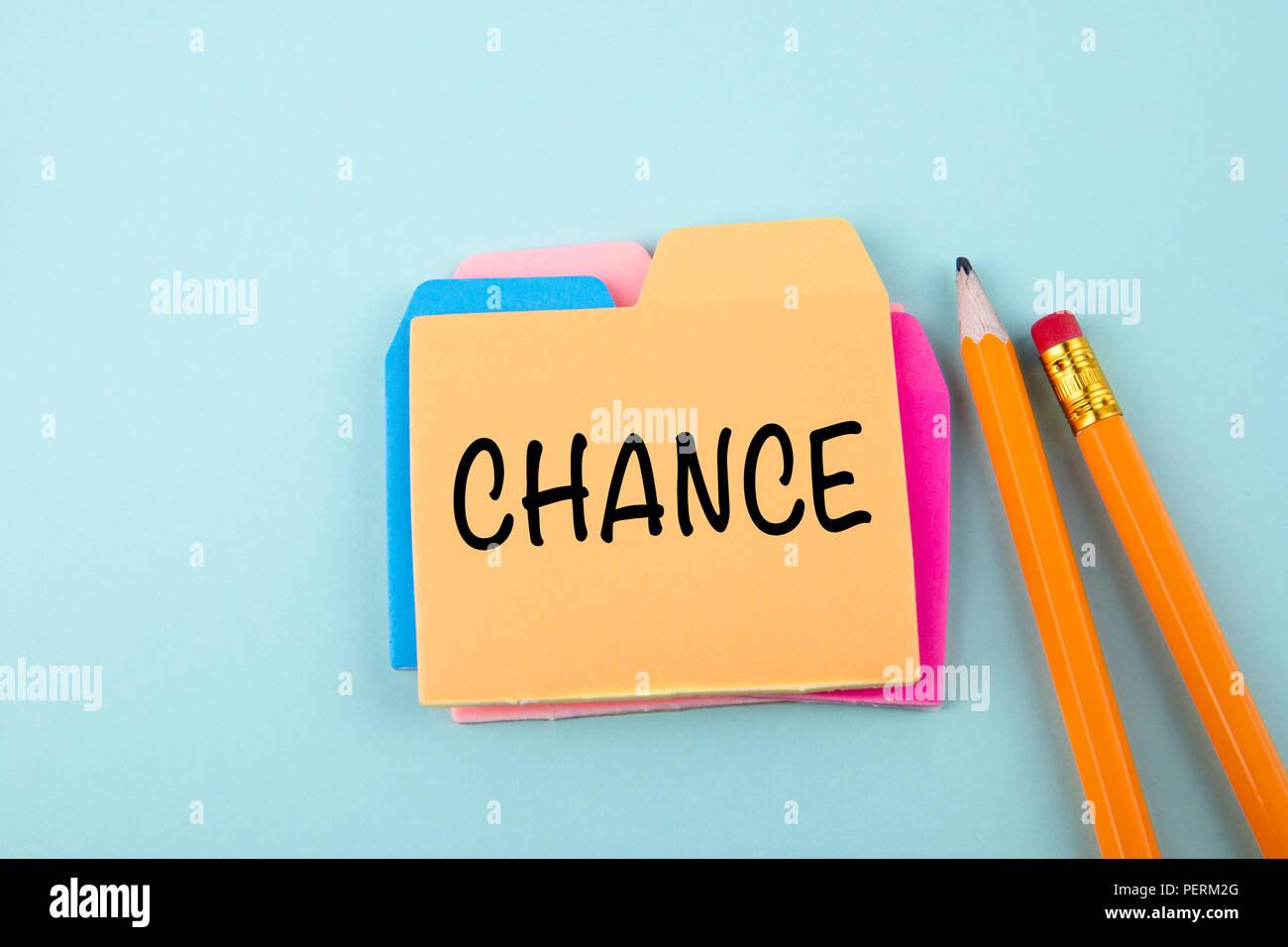 Chance, concept d'entreprise Photo Stock