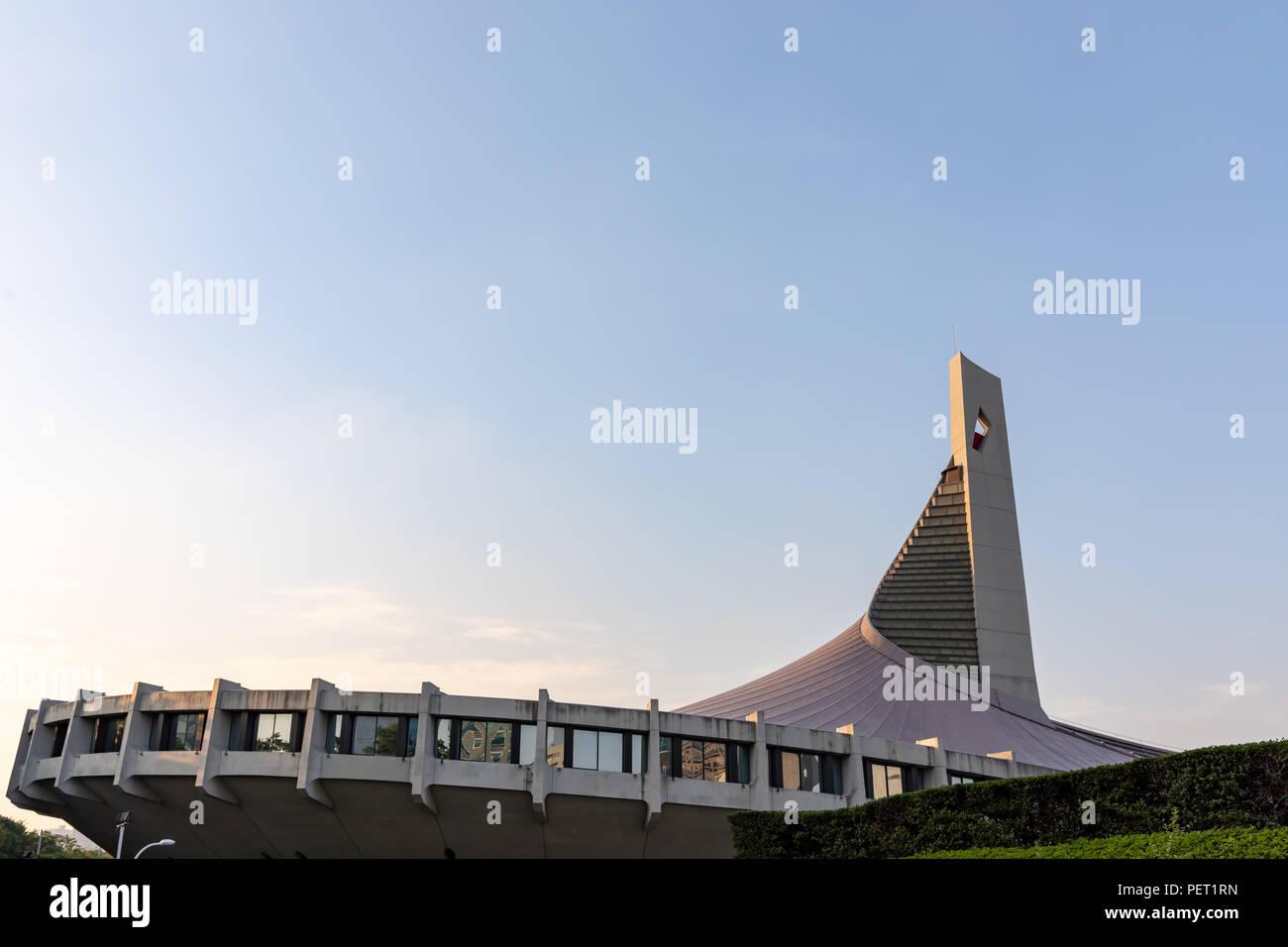 Stade national de Yoyogi (Kenzo Tange), construit pour le Jeux Olympiques d'été de 1964 à Tokyo, Japon Banque D'Images