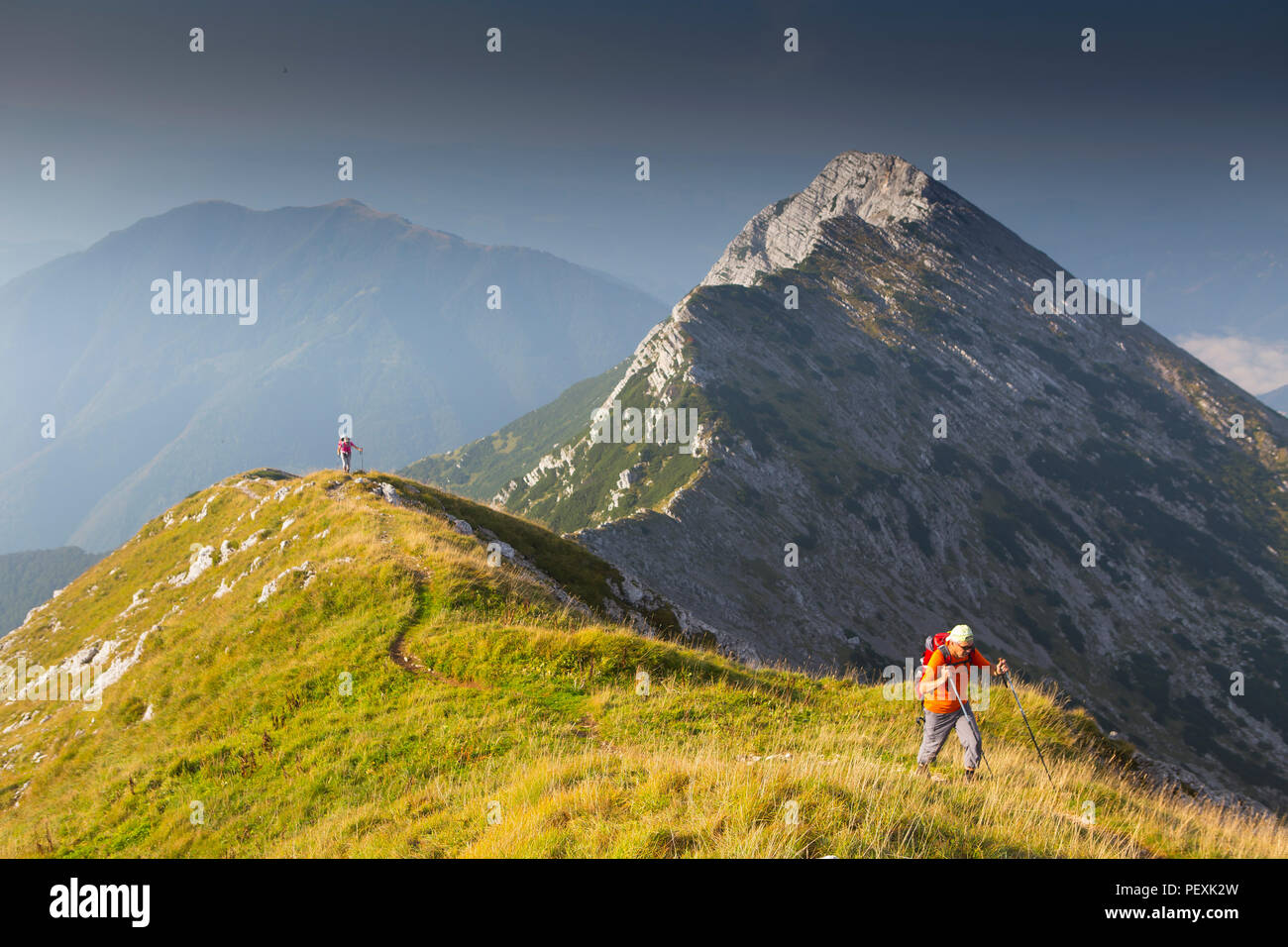 Mont Vogel, parc national du Triglav, en Slovénie Photo Stock