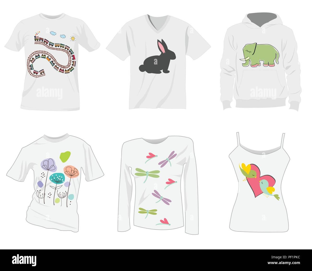 T Shirt Templates Design Vecteurs Et Illustration Image Vectorielle