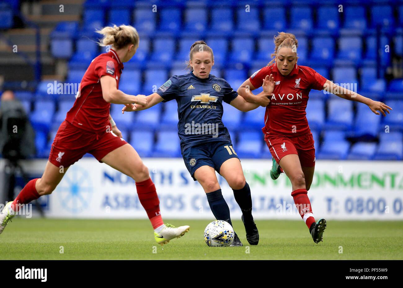 Liverpool Women's Jess Clarke (à droite) et Manchester United