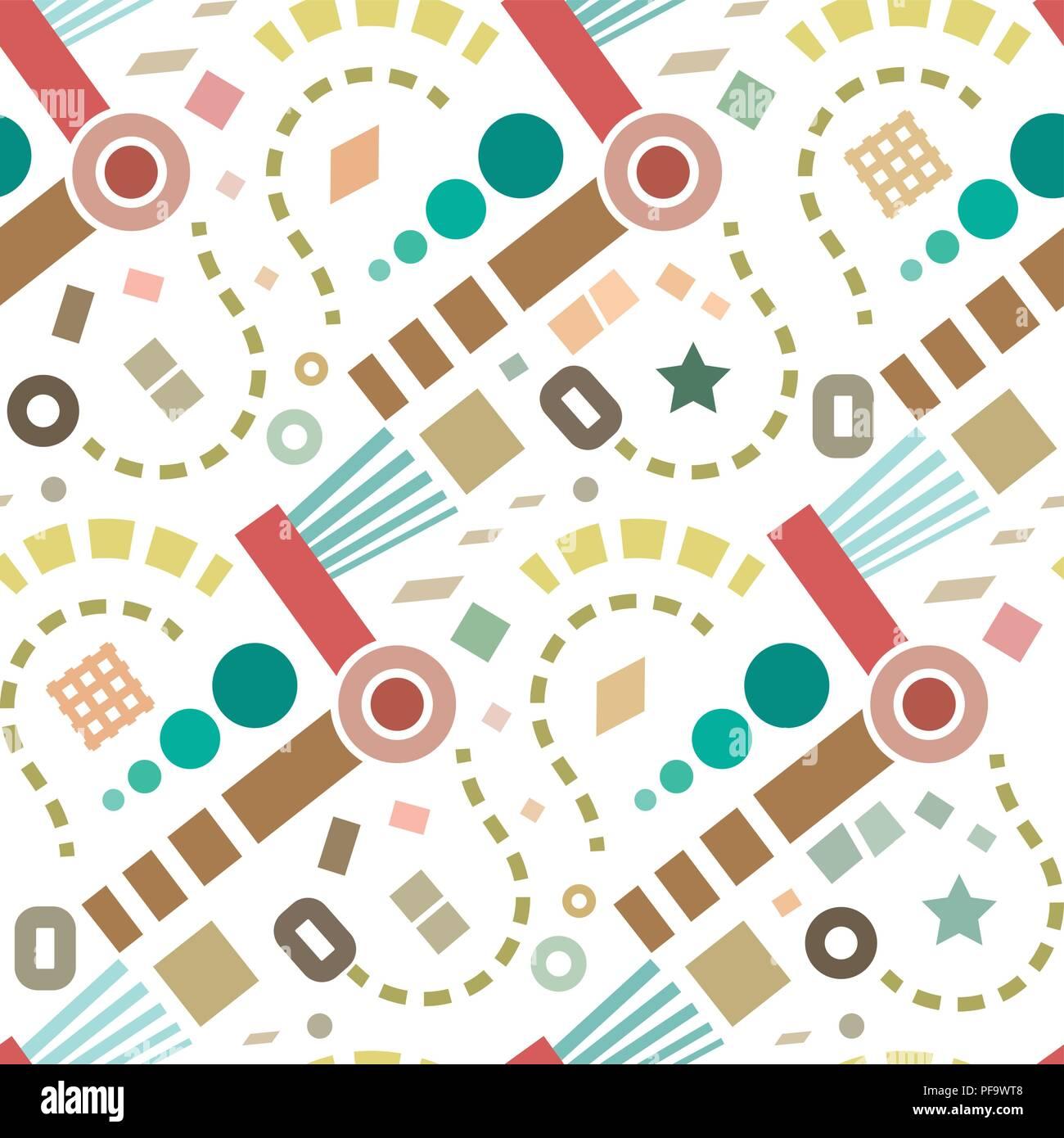 Vector Retro abstract pattern background. Illustration de Vecteur