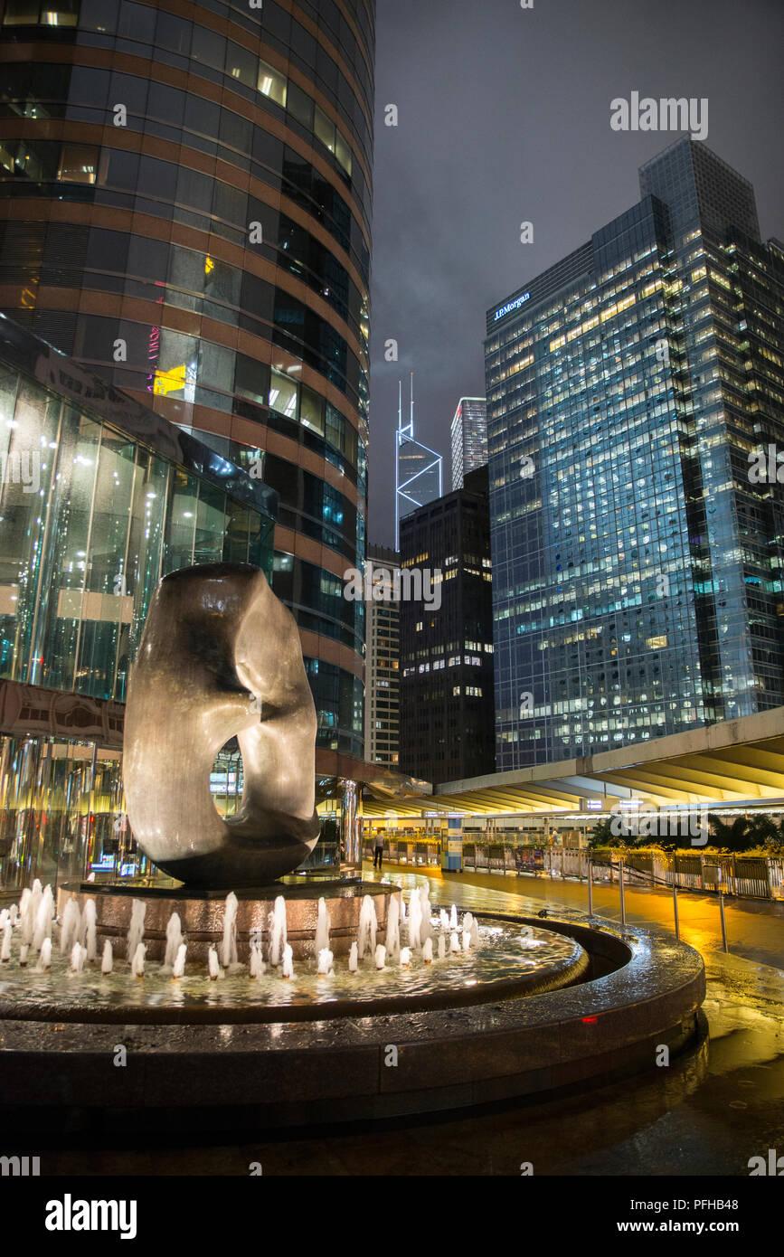 Gratte-ciel de Central District, Hong Kong, Chine Banque D'Images