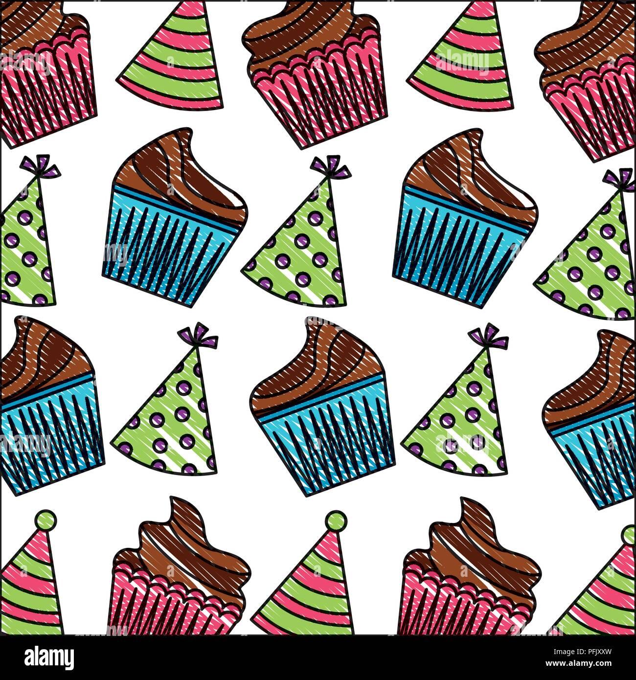 prix bas la meilleure attitude prix spécial pour Gâteau d'anniversaire et chapeaux de fête motif de ...