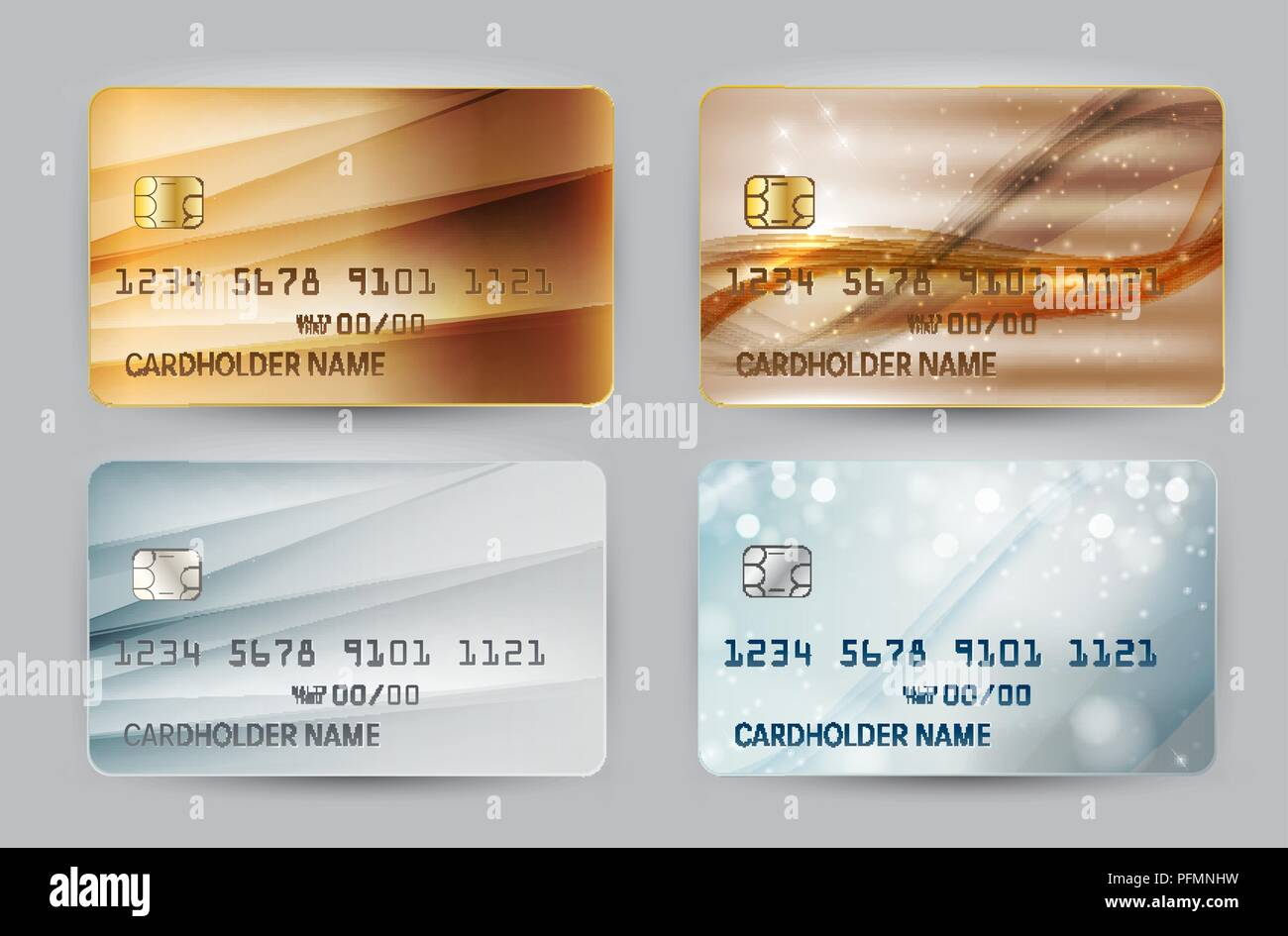 Carte Bancaire Avec Argent.Des Vagues D Or Et D Argent De La Carte Bancaire Modele