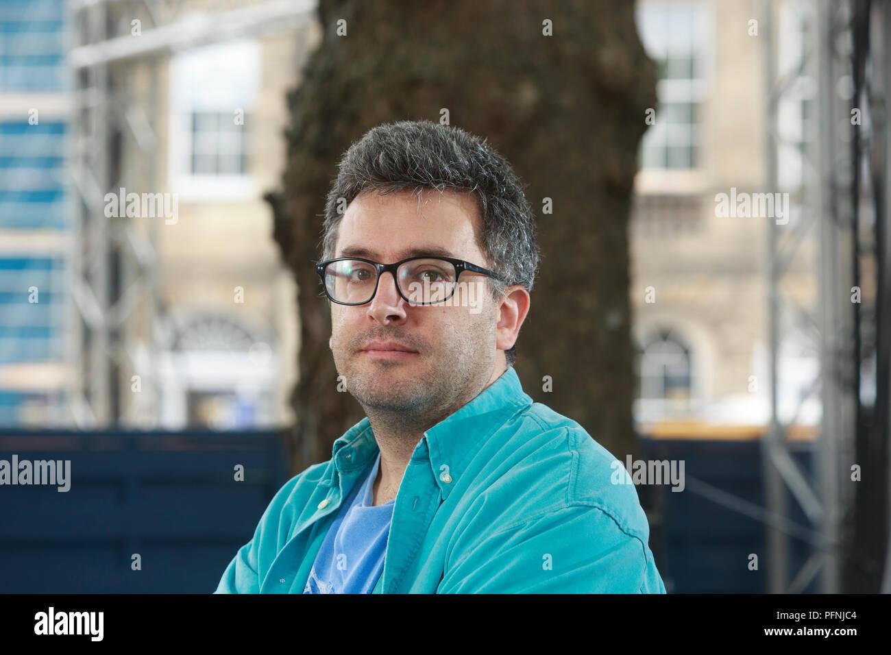 Edimbourg, Ecosse. UK. 21 août 2018. Edinburgh International Book Festival. Photo: Daniel Hahn . Édimbourg. Pako Mera/Alamy Live News. Banque D'Images