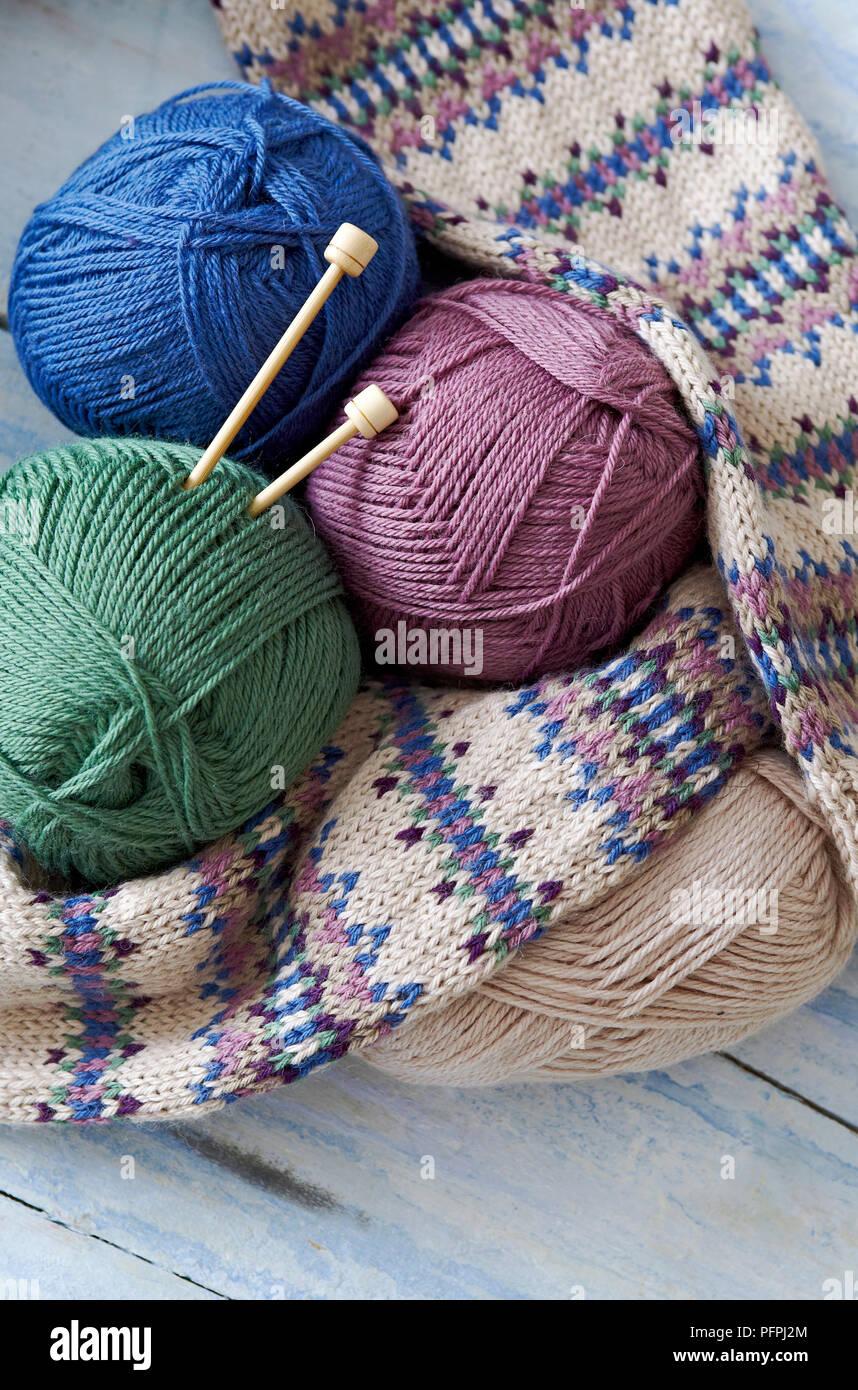 meilleur prix grandes marques offres exclusives Boules de laine, aiguilles à tricoter, et tricoté manches de ...