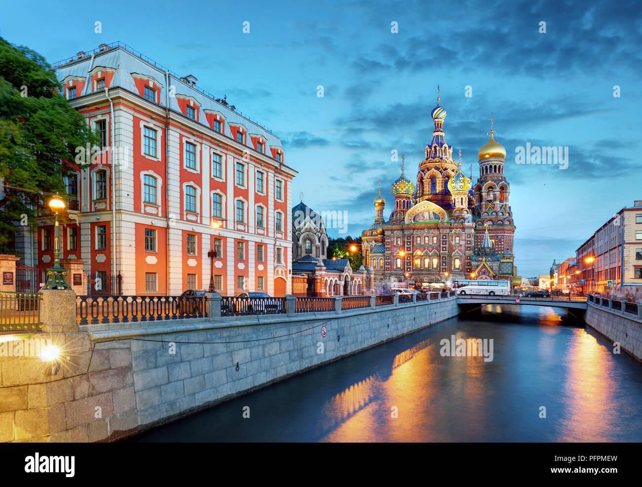 Saint-pétersbourg - Eglise du Sauveur sur le sang versé, la Russie Photo Stock