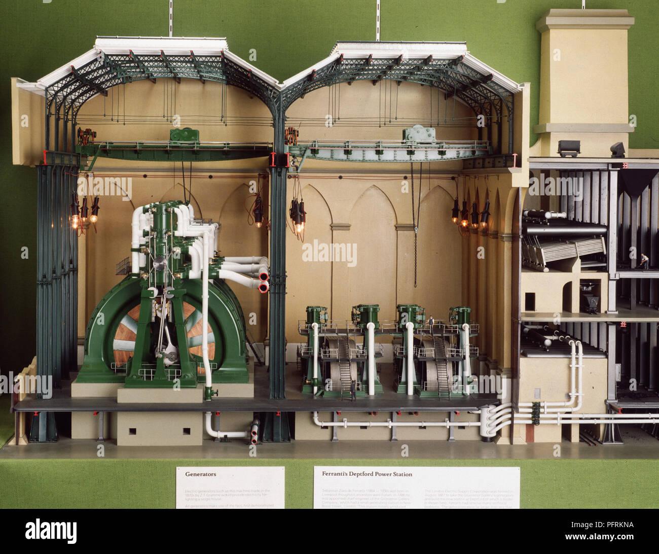Modèle de Power Station Banque D'Images