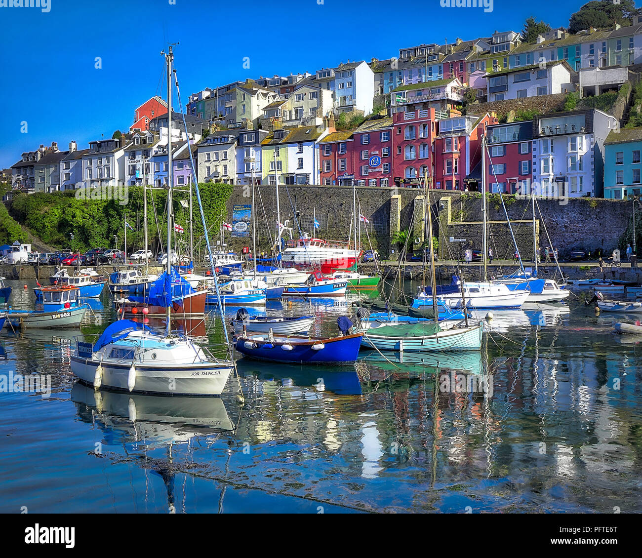 Go - DEVON : Brixham Harbour Photo Stock