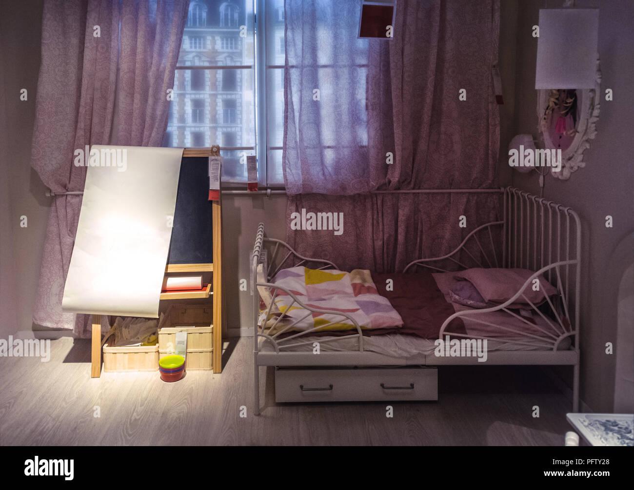 L'intérieur de chambre à coucher de childrens (il n'est modifié à l'échelle mondiale) Photo Stock