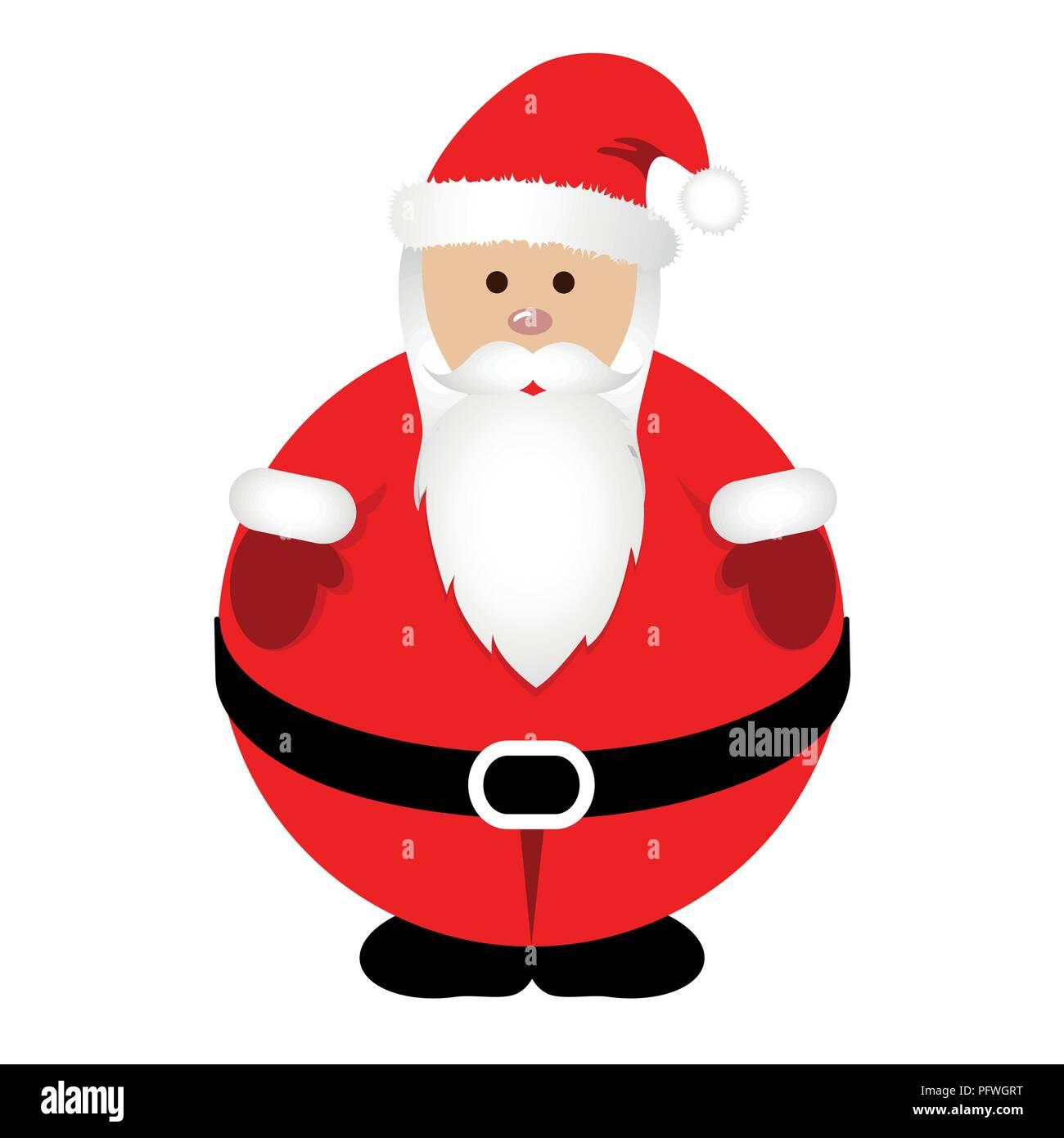 Le Père Noël en rouge gras vêtements vector illustration EPS10 ... 0888f24c68f