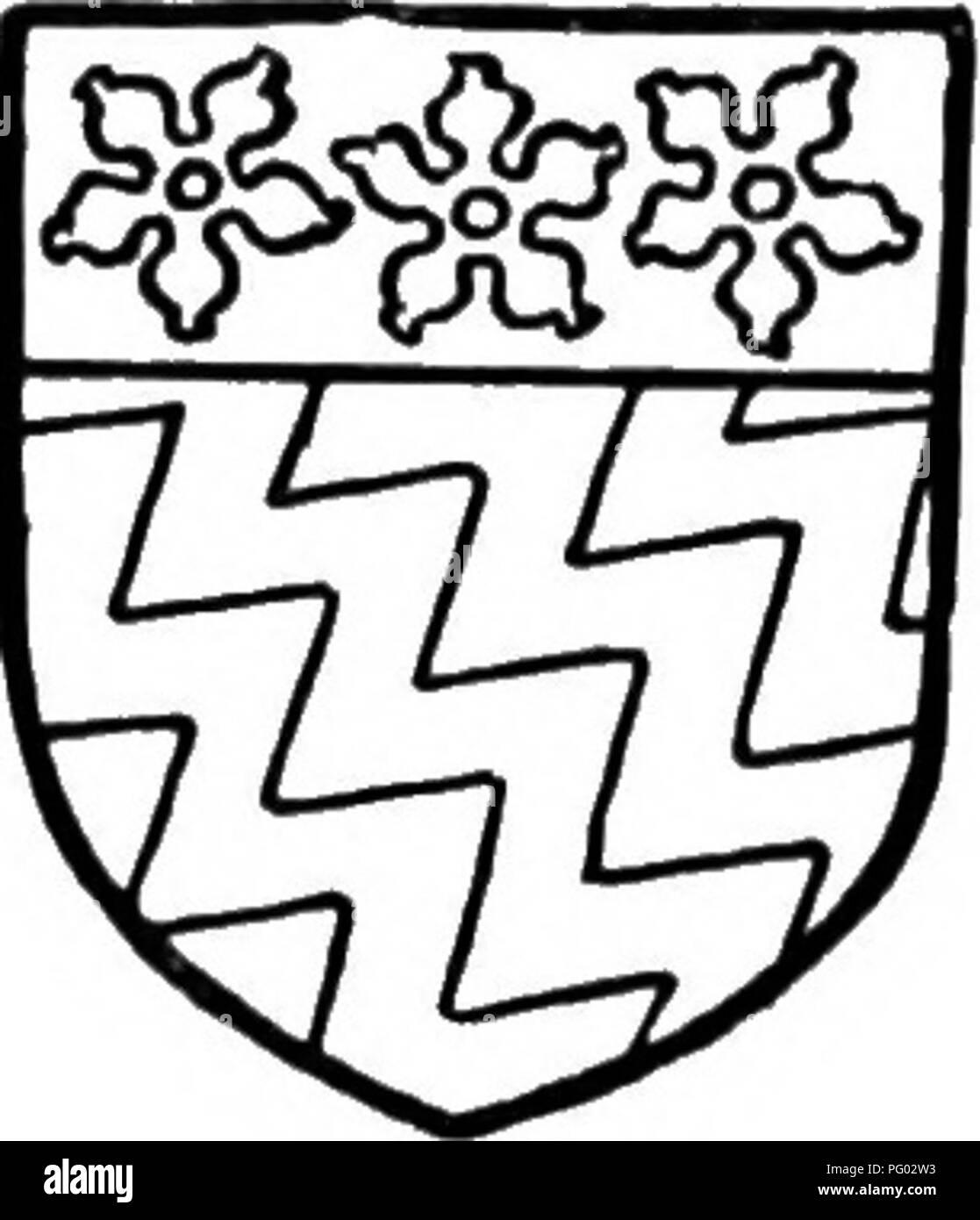 . L'histoire de Victoria du comté de Lancaster;. L'histoire naturelle. Ferrers de Grobjr. De gueules à sept cr mascles. domiciliation la troisième p.irt (d'une quatrième partie) et la troisième partie des deux tiers d'une quatrième partie de la tour de l'Chorlcy, dans lequel vere l 2 acres de terres arables nf (lo;.) et 2 hectares de prairie (FID), d'une valeur lo/. id. par an; la libre locataires rendus 3/. 3a'., les locataires de burgages 10/., les locataires à vie 4/. (&Gt;^d., et les locataires à volonté 27/^z. d. L'ensemble est tenu de Thomas Fleming et illiam de Lea, seigneurs de Croston, par les chevaliers' ser^'ice et un loyer de 2/. ()D. Au même ti Photo Stock