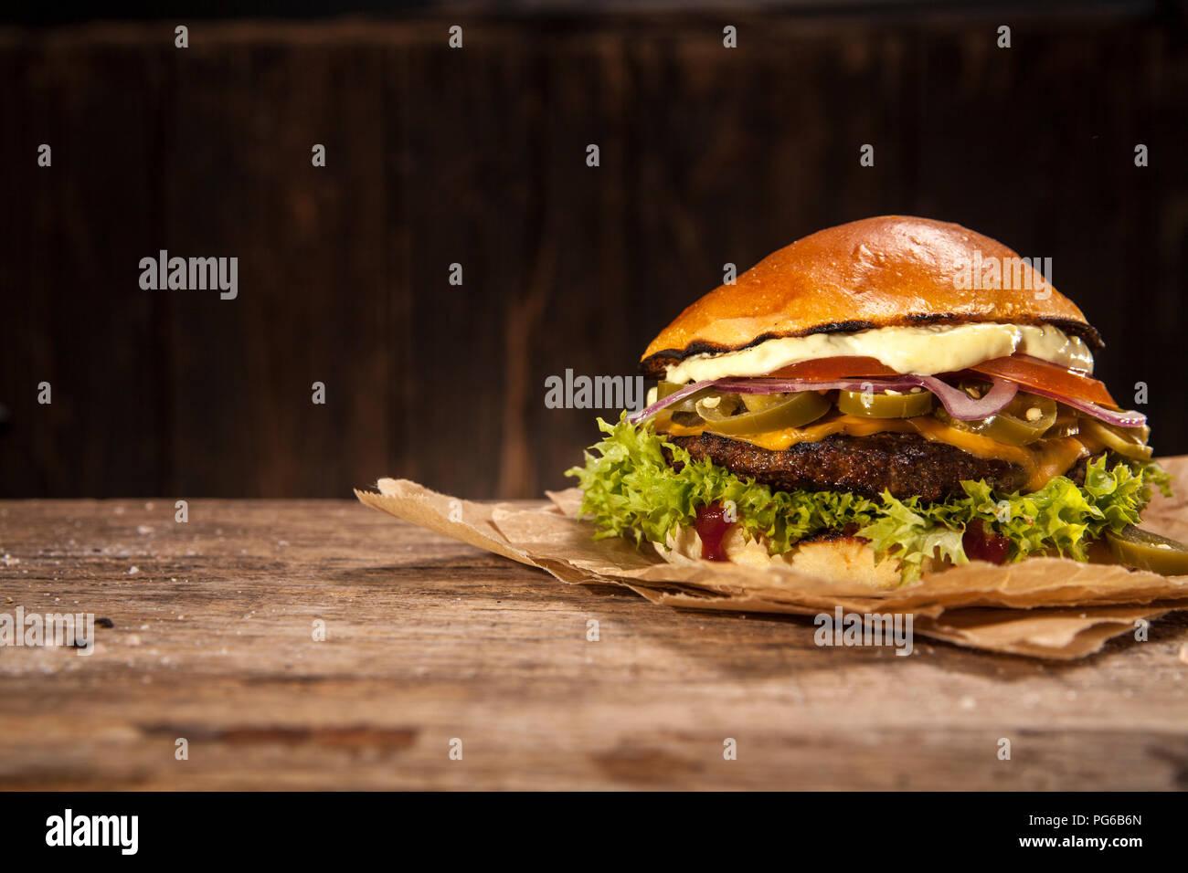 Hot Chili Burger Photo Stock