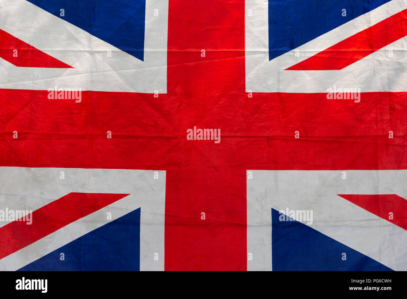 Sunlit drapeau de Grande-Bretagne, communément connu sous le nom de l'Union Jack ou de l'Union. Thème patriotique Banque D'Images