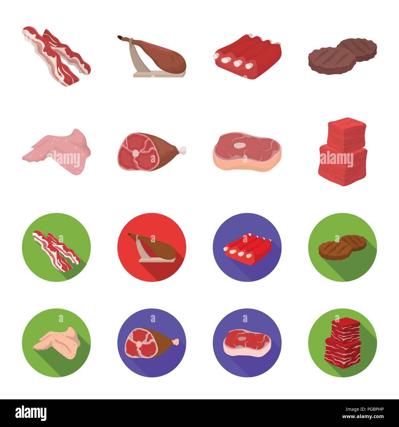 Ailes De Poulet Jambon Steak Cru Cubes De Boeuf Set D