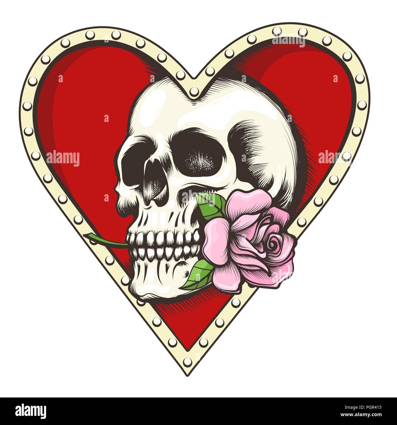 Crane Humain Avec Fleur Rose Rouge Dans Le Trou En Forme De Coeur