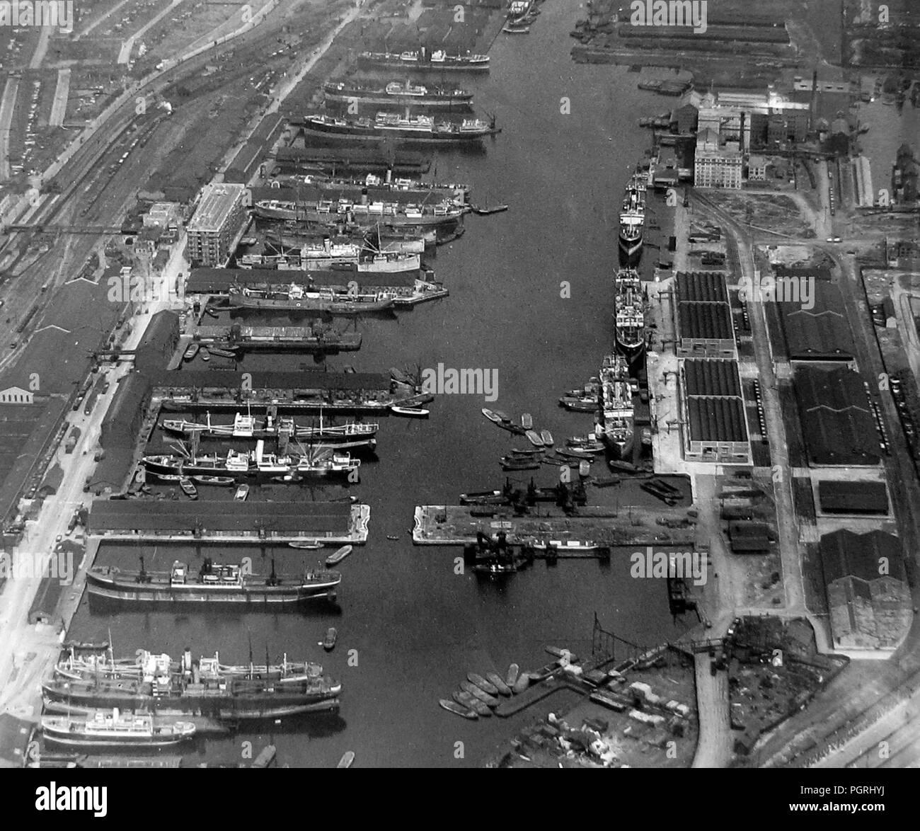 Victoria Dock, Londres, début des années 1900 Photo Stock