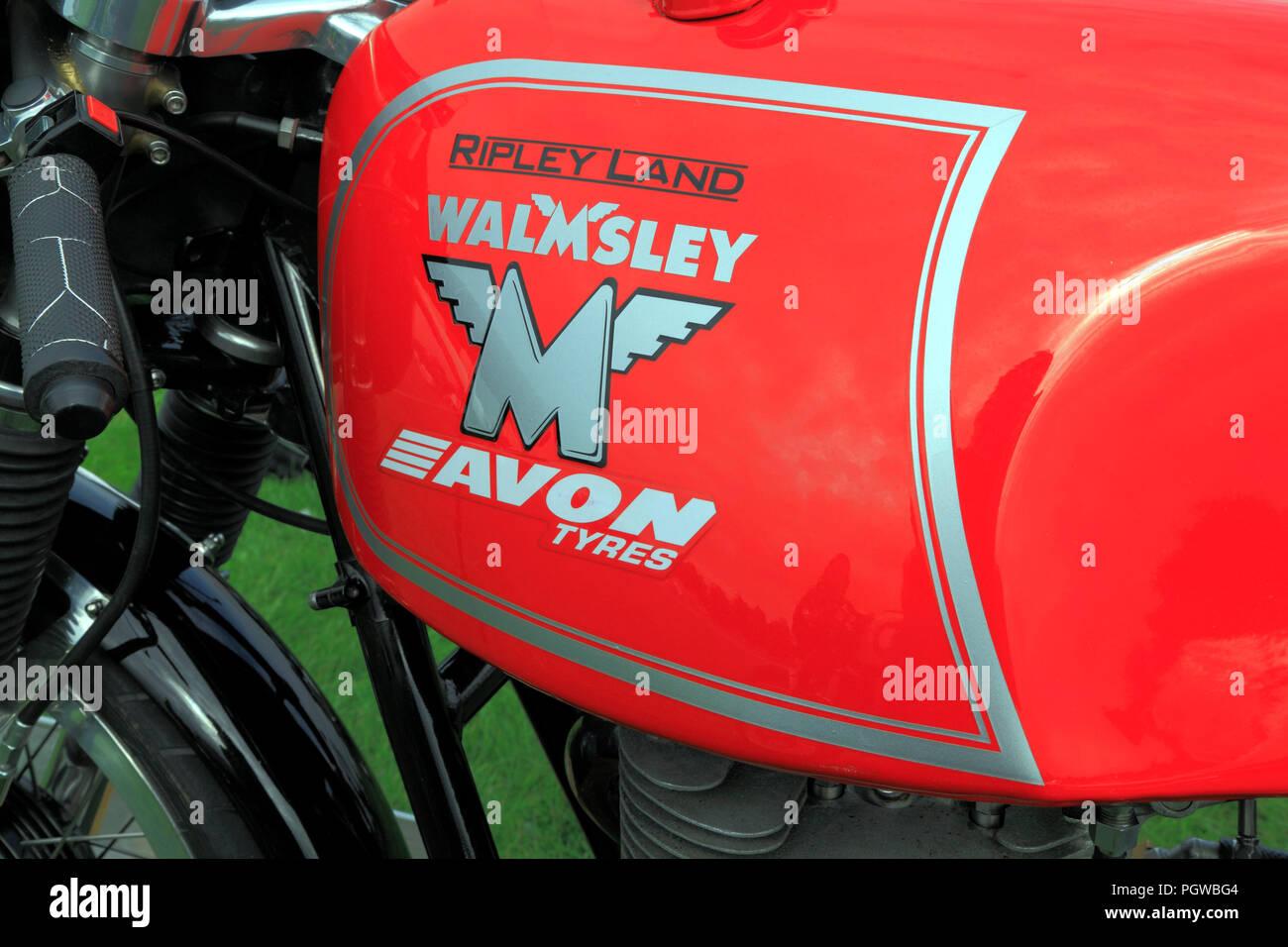 Ripley Terre, Walmsley, Pneus Avon moto, moto, logo Photo Stock