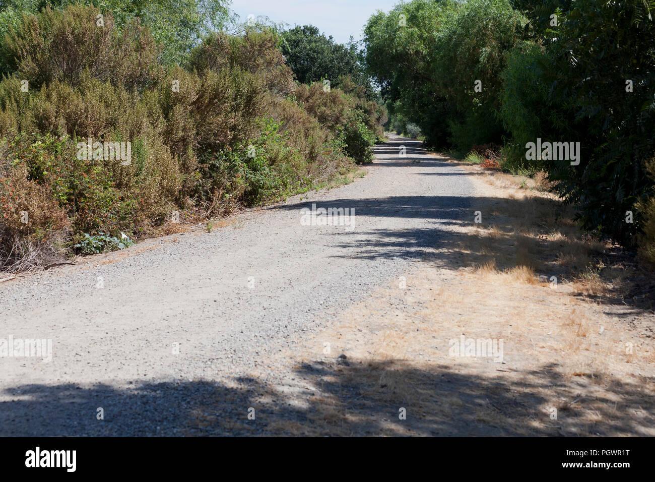 Route de gravier en zone rurale - California USA Photo Stock