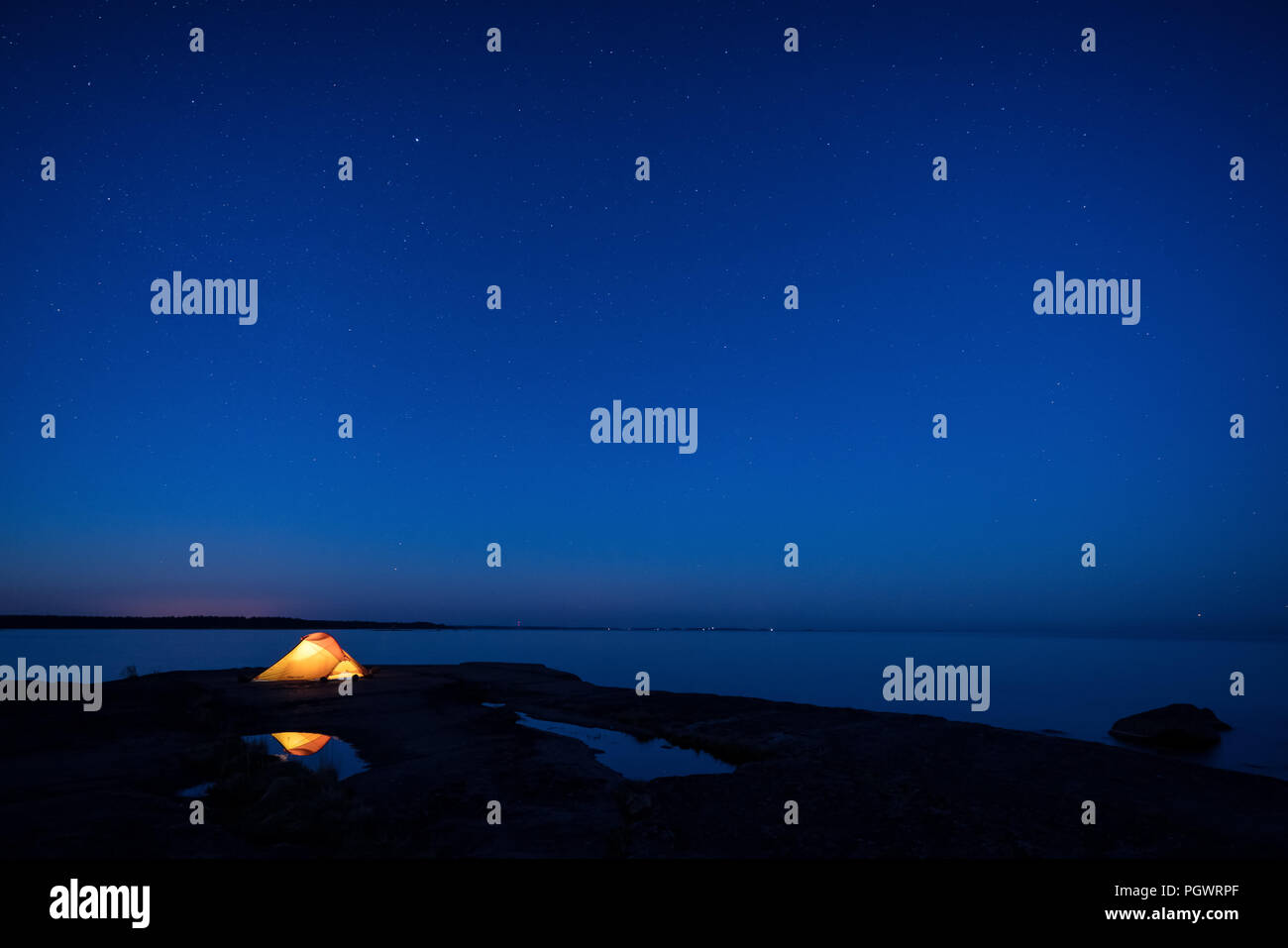 Camping à Varlaxudden à Porvoo, Finlande, Europe, UNION EUROPÉENNE Photo Stock