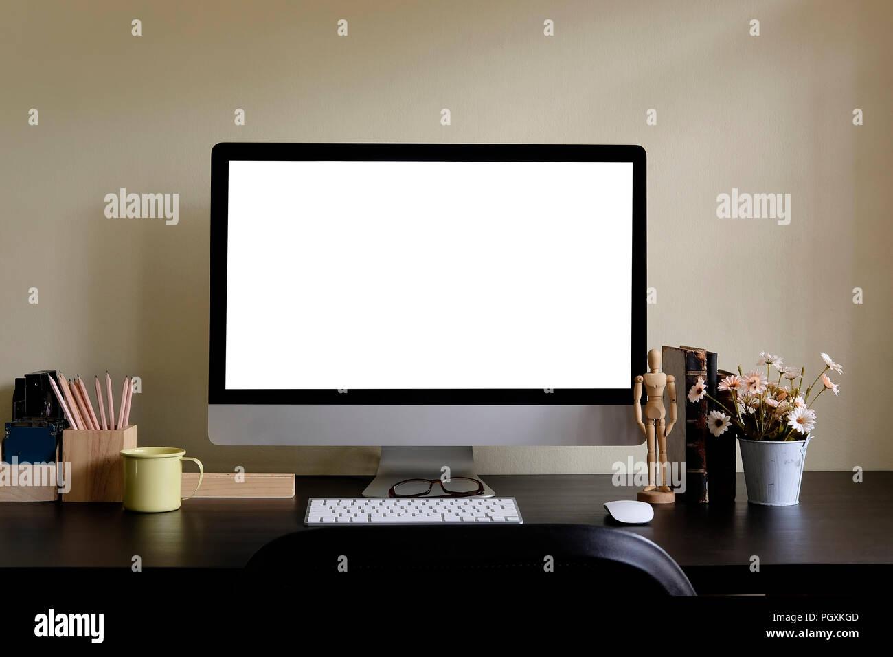 Le noir des produits physiques d un ordinateur de bureau