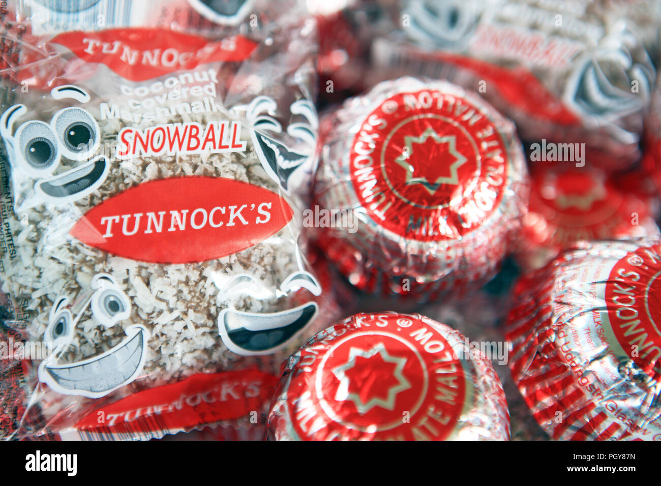 Tunnocks gâteaux de thé Banque D'Images